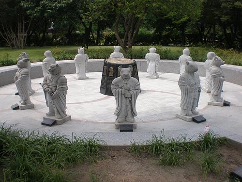 Chinese Zodiac Statue Circle