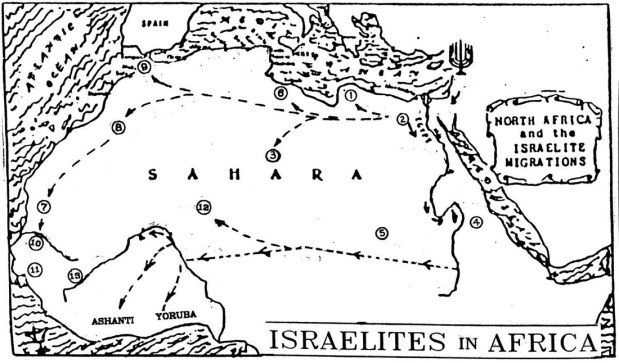 Israelite North African Migration Map