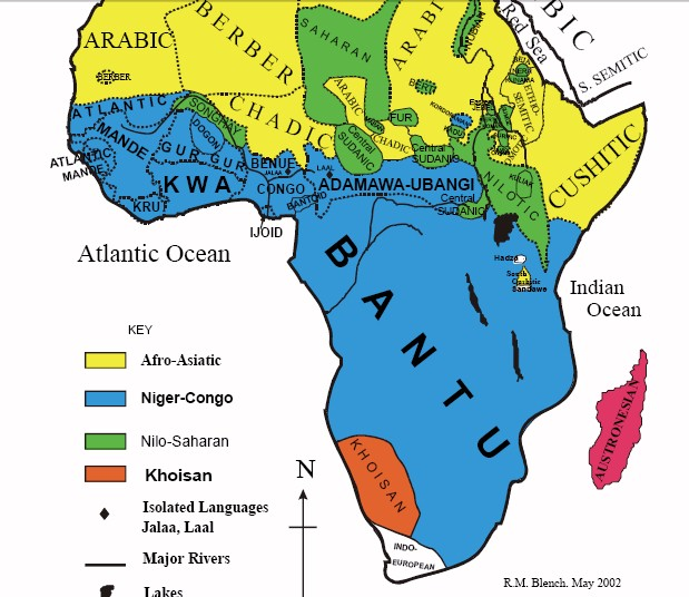 AfricanLanguage Families Map