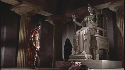 jason consulting hera through statue