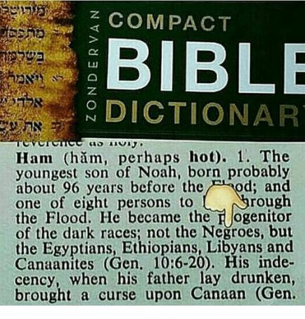 Zondervan's Bible Dictionary, definition of HAM
