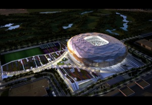 Fenwick Iribarren Architects' Qatar Foundation Stadium for the 2022 World Cup