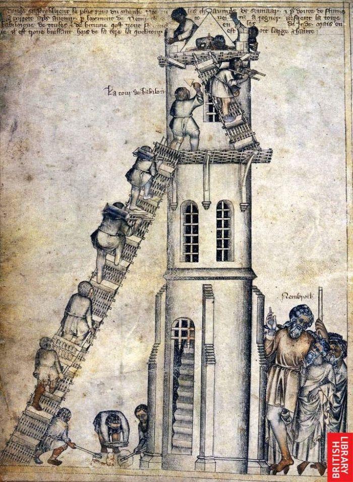 Medieval torre de Babel