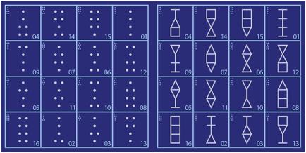 12 Geomantic Symbols