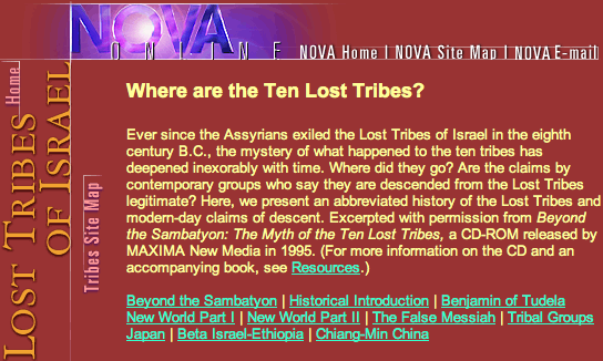 PBS: Where are the Ten Lost Tribes part 1