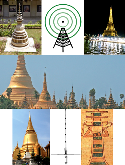 stupa antenna eifle tower