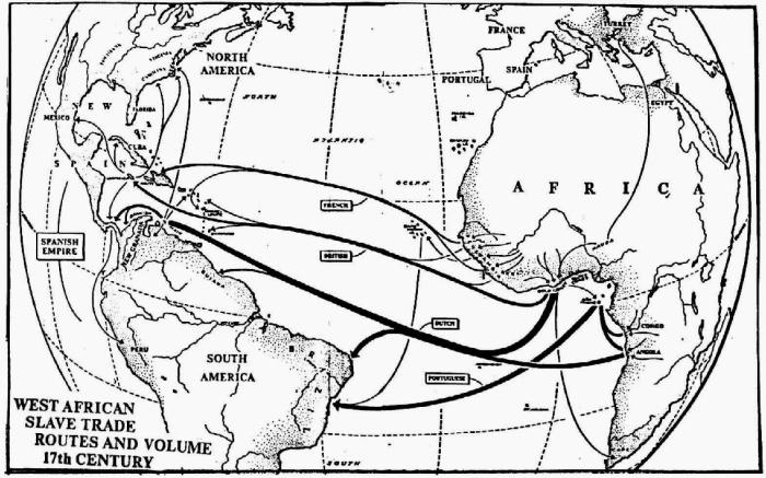 Trans Atlantic Slave Trade Map