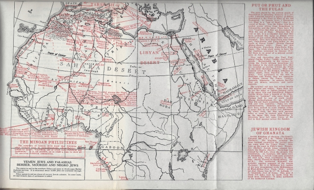 Lost Tribes a Myth by Allen H Godbey, pg 257 negro jews map