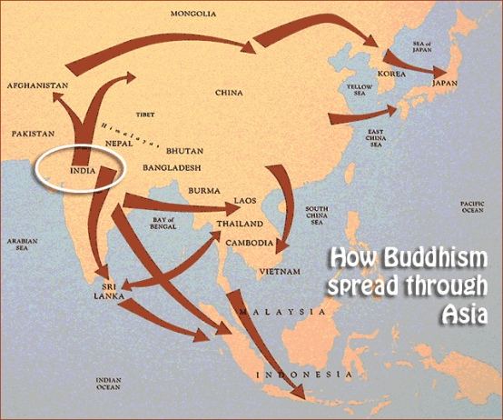 Buddhism diffusion map