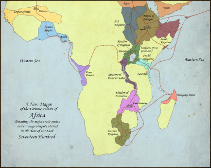 Bantu African Trade routes connecting to indian ocean silk route