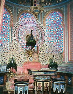 peacock throne in the moorish kiosk