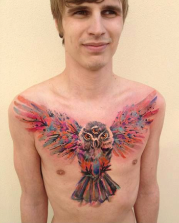 owl tattoo 2