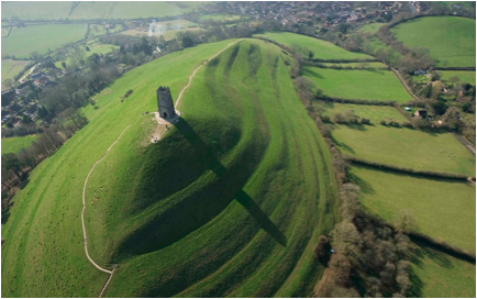 Glastonbury Tor in Somerset, England