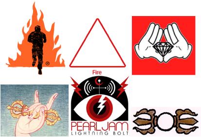 fire thunderbolt vajra symbols