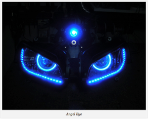 angel eye motorcycle head light