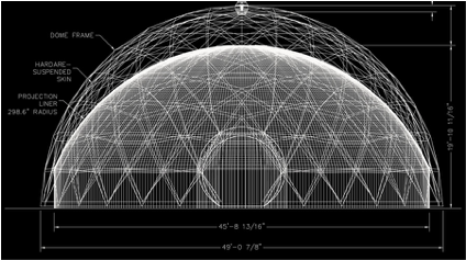 gridshell lattice dome