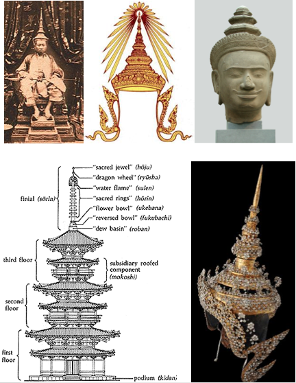 stupa crown antenna lightning rod