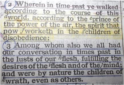 Ephesians 2:2-3
