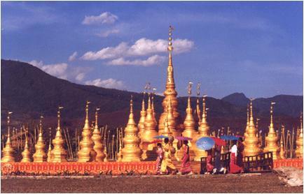 stupa golden antenna