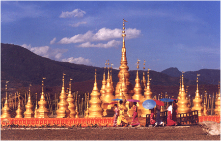 stupa golden antenna