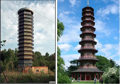 russian harp fractal pagoda comparisson