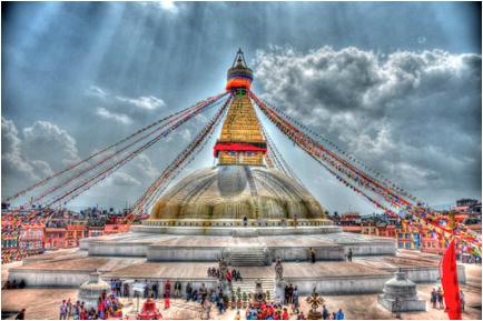 prayer flags transfer energy from antenna