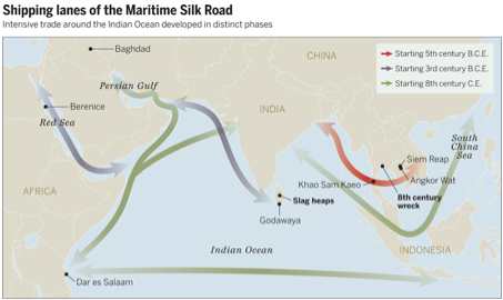 shipped lanes of the Maritime Silk Road