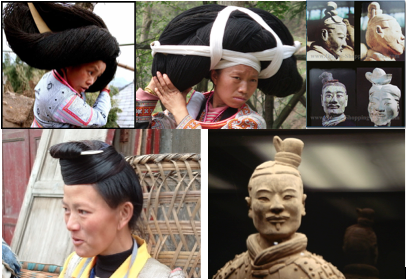 hmong hair bundle top knot