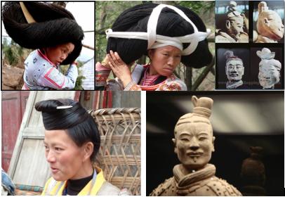 hmong hair bundle top knot