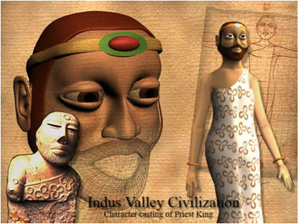 Inducs valley civilization priest king