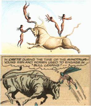 mycenean minoan bull jumping
