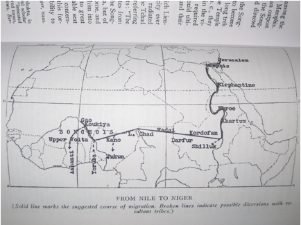 Hebrewism of West Africa Map