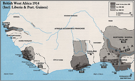 British West Africa map