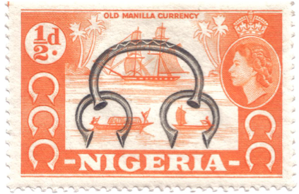 nigerian manilla money iron ring