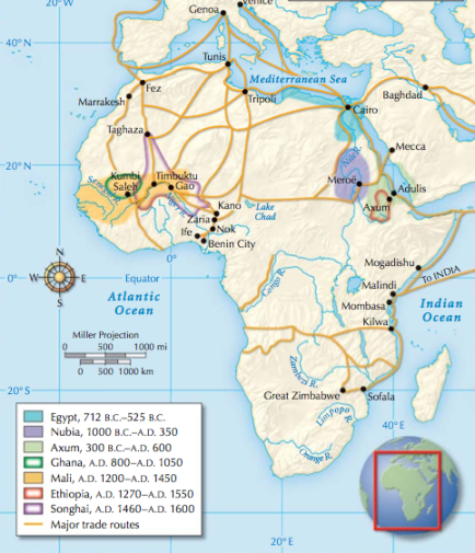 silk trade routes connected to african trade routes
