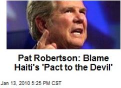 pat robertson haiti pact to devil