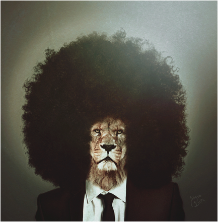 afro lion mane