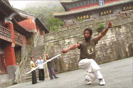 negro african shaolin kung fu sword