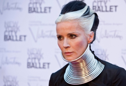 Artist Daphne Guinness arrives for the 2012 New York City Ballet Fall Gala at the Lincoln Center in New York September 20, 2012. (REUTERS/Andrew Kelly)
