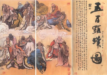 black buddhist monks art 1
