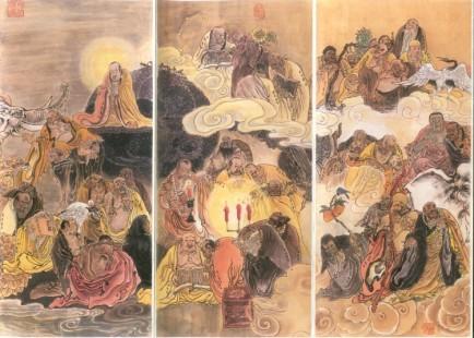 black buddhist monks art 4
