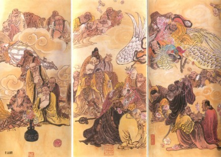black buddhist monks art 5