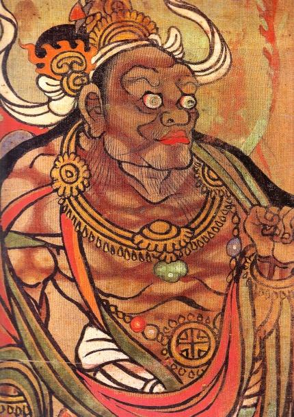 black sambo buddha red lips negro 1