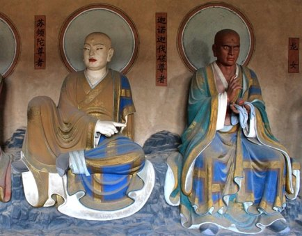 black buddhist monks