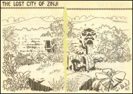 Lost city of Zinj Zanj