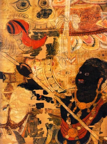 black sambo buddha red lips negro 2