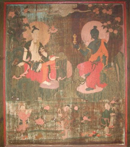 Avalokiteśvara and Vajrapaṇī