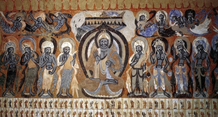 Mogao Buddhist Caves (near Dunhuang): Cave 428 fresco 2, Zhou Dynasty