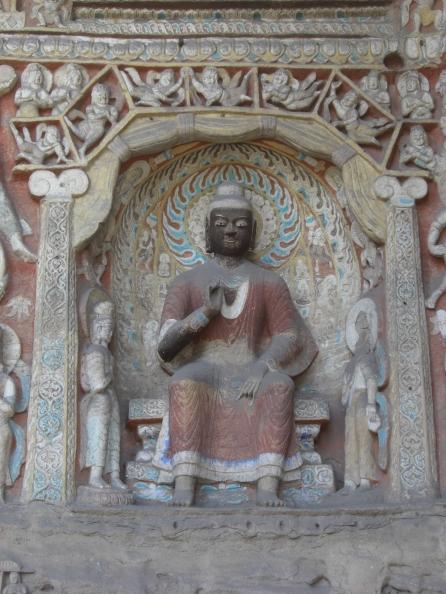 Black Buddha Mogao wall