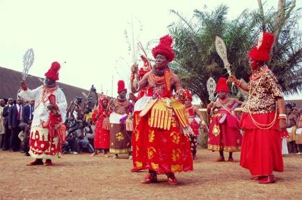 edo royals at igue festival in benin